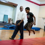 Todd Kennedy tumbling classes at Franklin Circle Christian Church in Ohio City